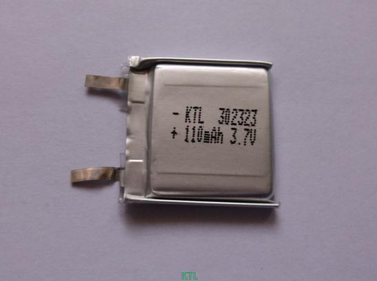 聚合物锂电池KTL302323-110mAh