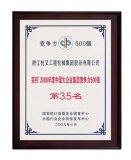 """2009年中国大企业集团竞争力500强""""(第35位)"""