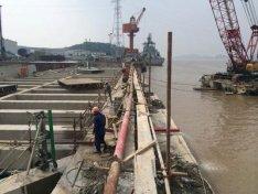 杭州某河滩施工