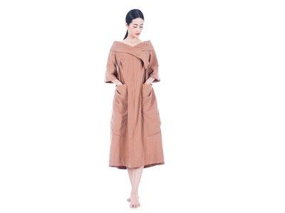 女裝禪衣麻衣大口袋長裙2210