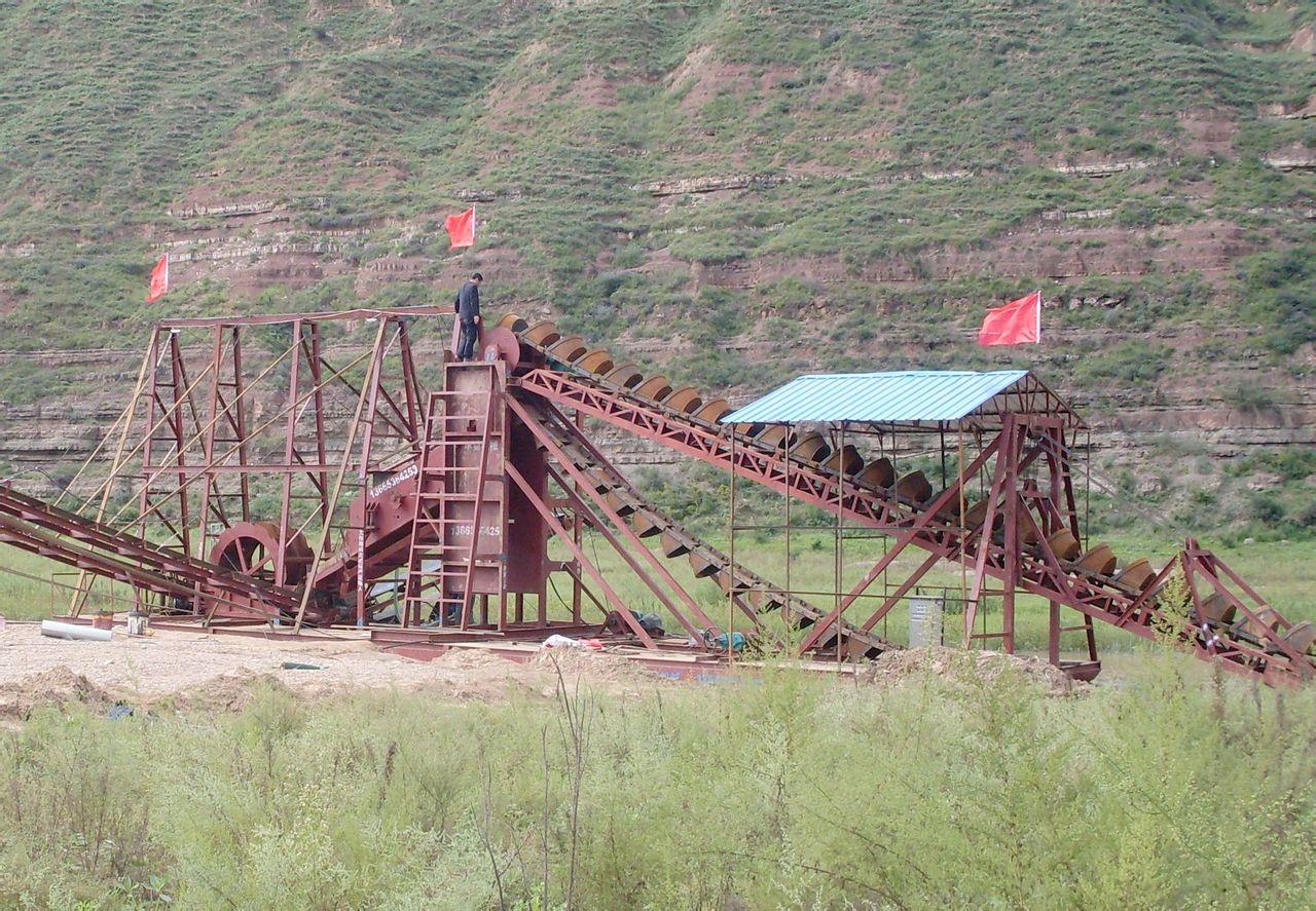 沙河淘金船设备