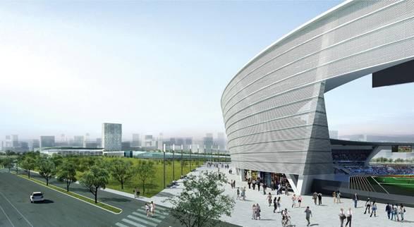 泸州公园体育场桁架结构工程