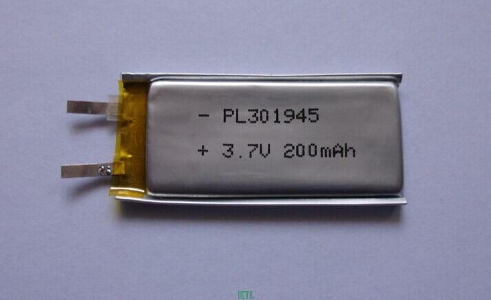 聚合物锂电池KTL301945-200mAh