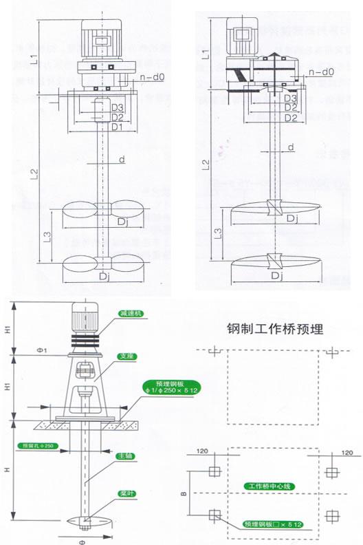 2  叶轮转速 100  叶轮直径 300  皮带传动 (v)   搅拌机名称   jbt