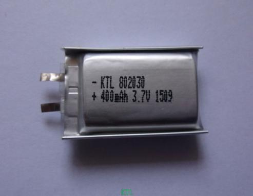 聚合物锂电池KTL802030-400mAh