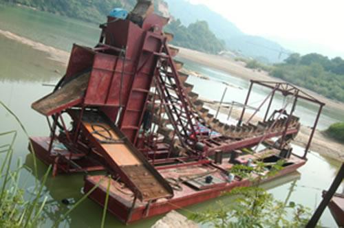 淘金船的外形