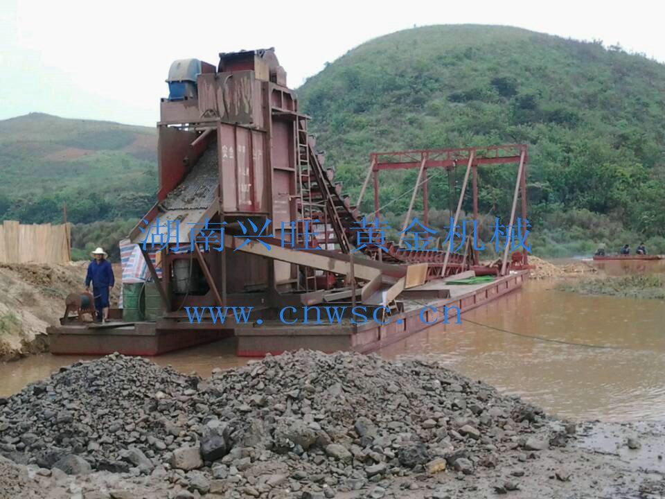 剛果淘金船、挖金船