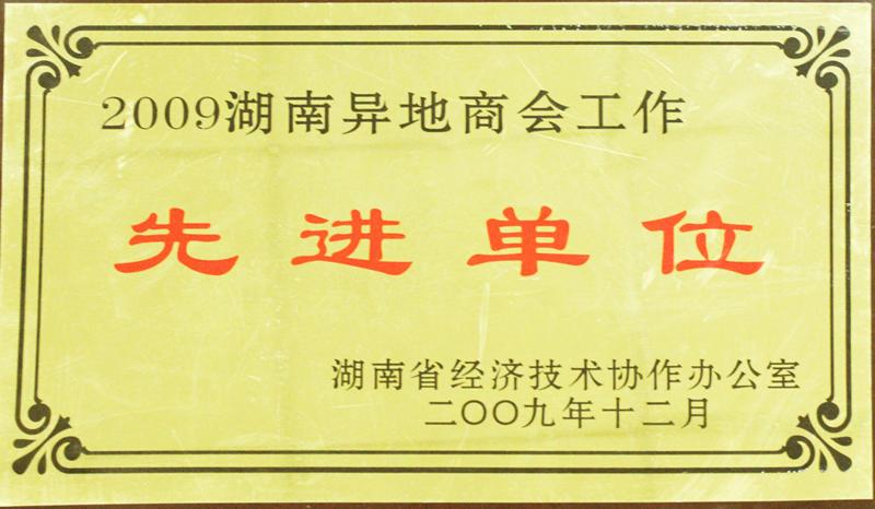 湖南異地商會工作——先進單位(2009)