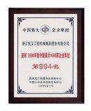 """2009年中国最大1000强大企业集团""""(第994位)"""