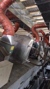 烘干生产线导热油改天然气直接加热