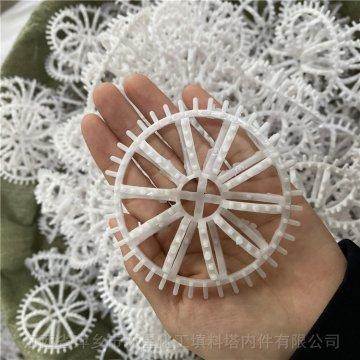 特殊白色PVC材质带刺花环填料