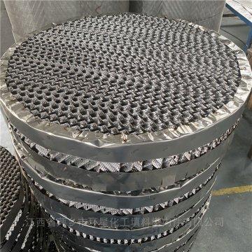 500Y孔板波紋填料帶防壁流圈