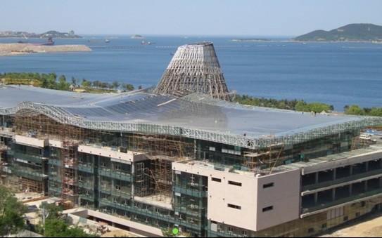 威海市民文化中心馆桁结构工程