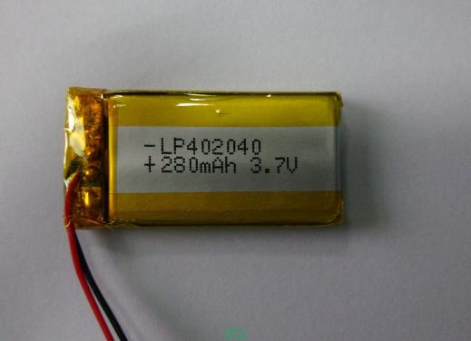 聚合物锂电池KTL402040-280mAh