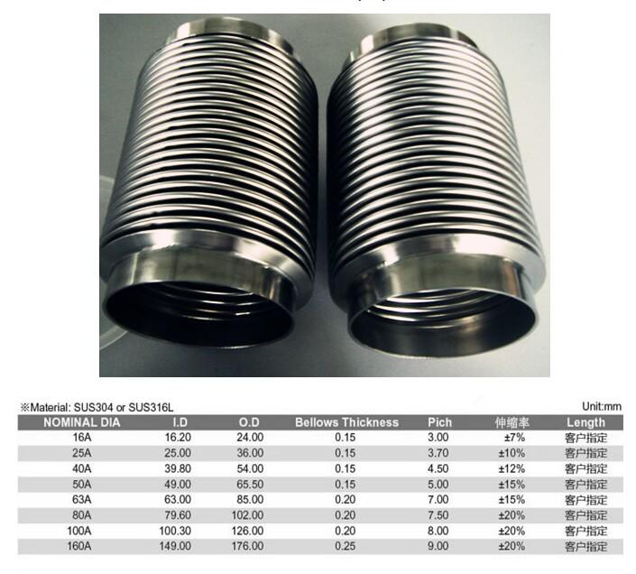 焊接型真空软管